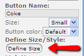Button Define size