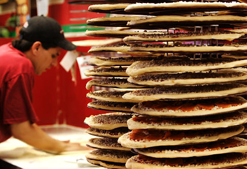 Stack of Pizzas