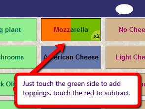 add subtract toppings
