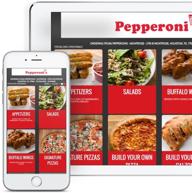 online ordering menu on a smartphone and ipad tablet