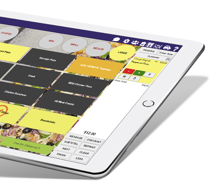 ipad tablet with thr!ve delivery restaurant pos
