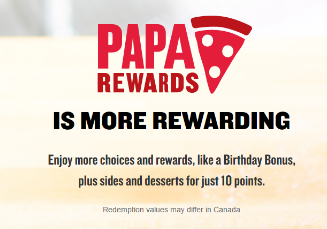 Papa John's Rewards Program